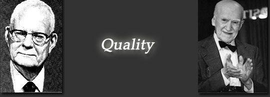 Povijest razvoja Kvalitete: W.E. Deming i J. M. Juran