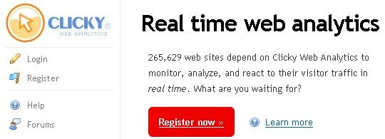 Clicky – real time web analiza